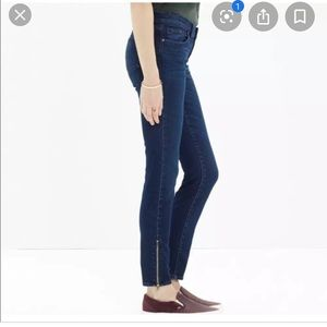 Madewell Skinny Skinny zippered ankle jeans 25